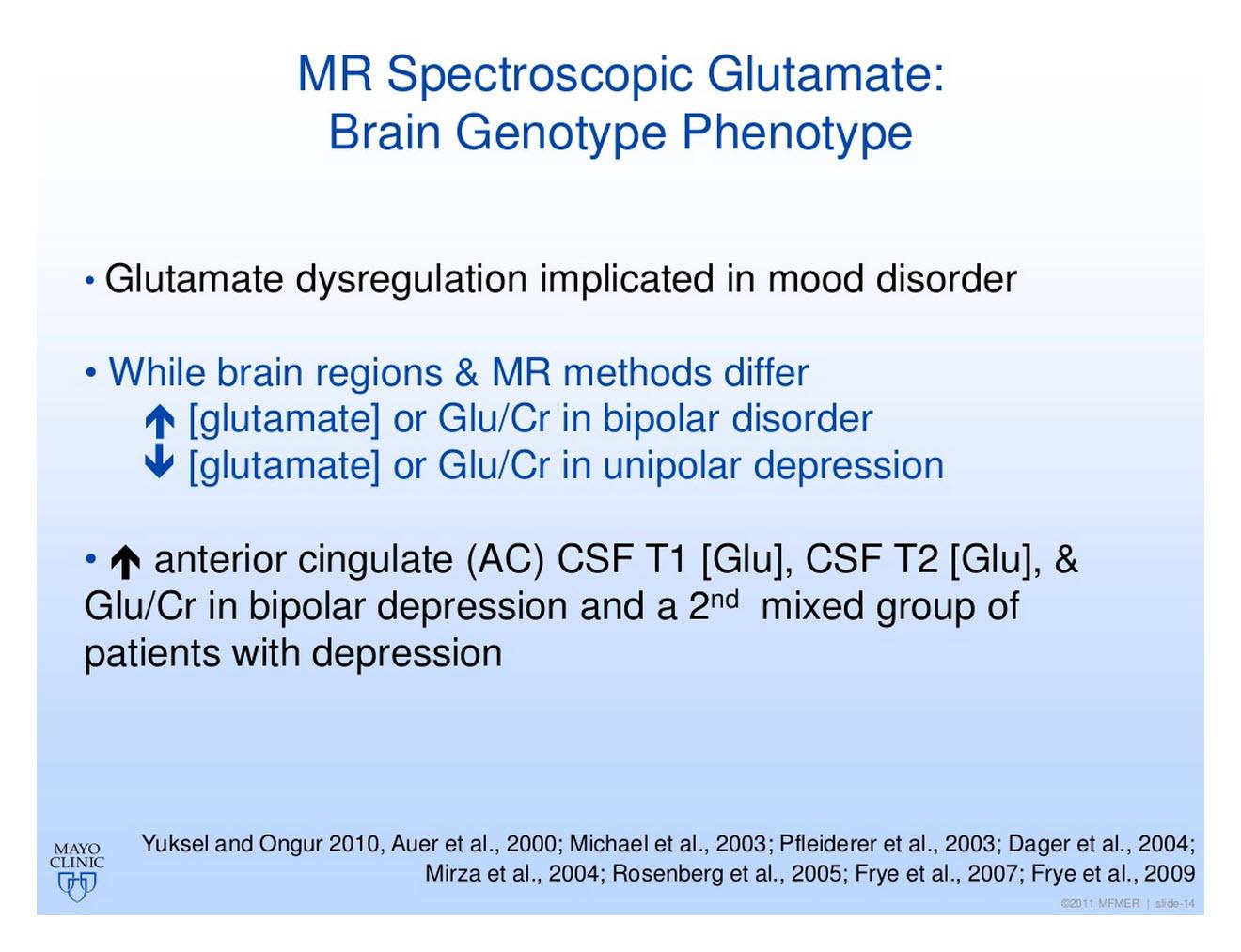 Bipolar Depression Neurobiology - 2014 ISBD Update