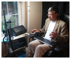 Dr. Peter Forster hosting a telepsychiatry session